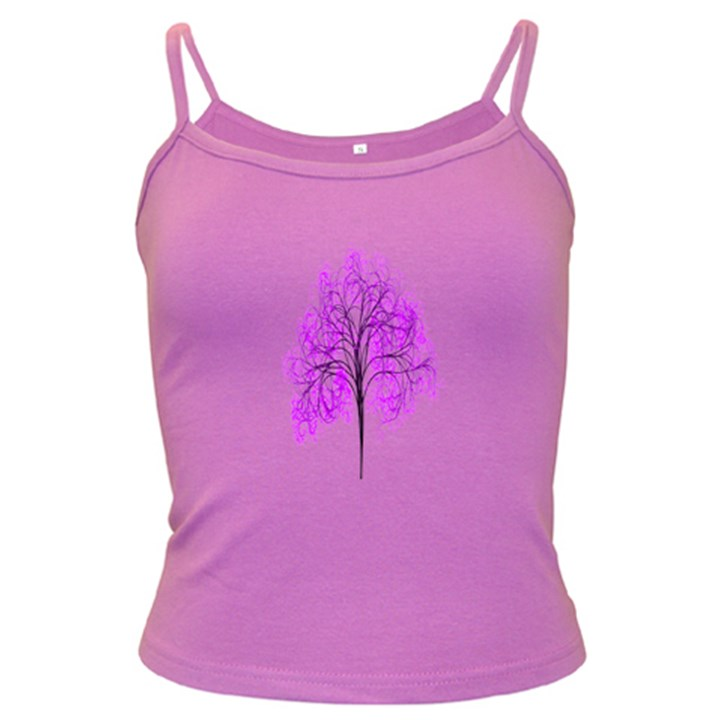 Purple Tree Dark Spaghetti Tank