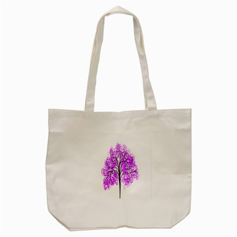 Purple Tree Tote Bag (Cream)