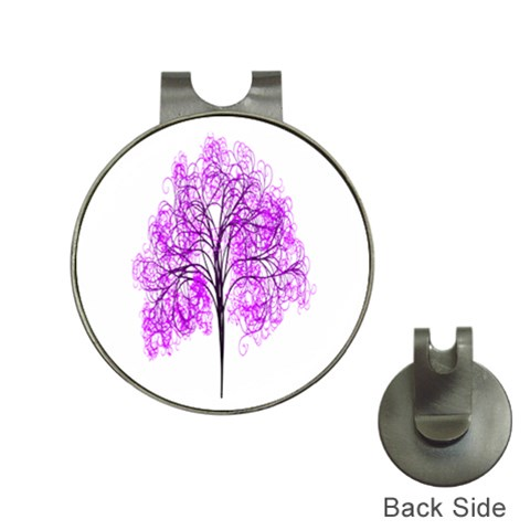 Purple Tree Hat Clips with Golf Markers