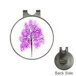 Purple Tree Hat Clips with Golf Markers Front