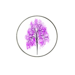Purple Tree Hat Clip Ball Marker (4 pack)