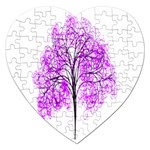 Purple Tree Jigsaw Puzzle (Heart) Front