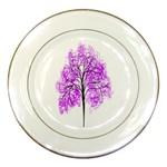 Purple Tree Porcelain Plates Front