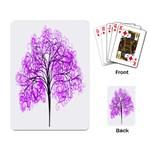 Purple Tree Playing Card Back