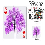 Purple Tree Playing Cards 54 Designs  Front - Heart5