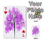 Purple Tree Playing Cards 54 Designs  Front - Heart7