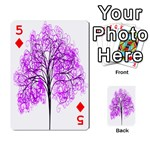 Purple Tree Playing Cards 54 Designs  Front - Diamond5