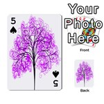 Purple Tree Playing Cards 54 Designs  Front - Spade5