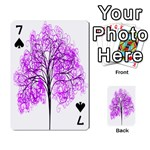 Purple Tree Playing Cards 54 Designs  Front - Spade7