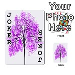 Purple Tree Playing Cards 54 Designs  Front - Joker1