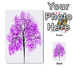 Purple Tree Playing Cards 54 Designs  Back