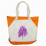 Purple Tree Accent Tote Bag Front