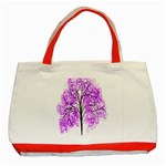 Purple Tree Classic Tote Bag (Red) Front