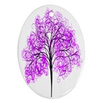Purple Tree Oval Ornament (Two Sides) Back