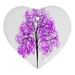 Purple Tree Heart Ornament (2 Sides) Front
