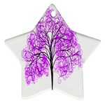 Purple Tree Star Ornament (Two Sides)  Front