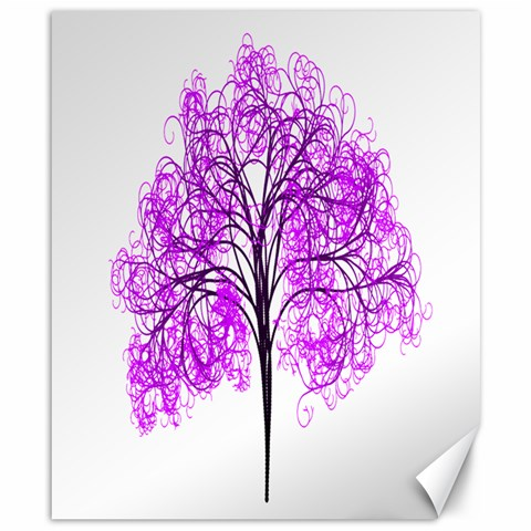 Purple Tree Canvas 8  x 10