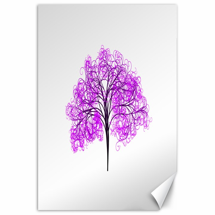 Purple Tree Canvas 20  x 30
