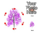 Purple Tree Playing Cards 54 (Round)  Front - Heart6