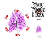 Purple Tree Playing Cards 54 (Round)  Front - Heart10