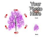 Purple Tree Playing Cards 54 (Round)  Front - DiamondQ
