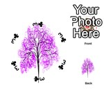 Purple Tree Playing Cards 54 (Round)  Front - Club3