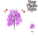 Purple Tree Playing Cards 54 (Heart)  Front - Heart5