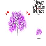 Purple Tree Playing Cards 54 (Heart)  Front - Diamond3