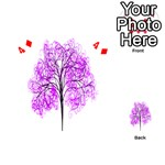 Purple Tree Playing Cards 54 (Heart)  Front - Diamond4