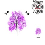 Purple Tree Playing Cards 54 (Heart)  Front - Spade5