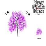 Purple Tree Playing Cards 54 (Heart)  Front - Spade7