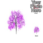 Purple Tree Playing Cards 54 (Heart)  Back