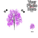 Purple Tree Playing Cards 54 (Heart)  Front - Spade10