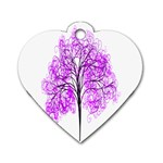Purple Tree Dog Tag Heart (Two Sides) Back