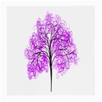 Purple Tree Medium Glasses Cloth Front