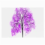 Purple Tree Large Glasses Cloth Front
