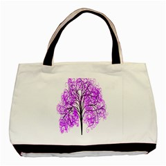 Purple Tree Basic Tote Bag (Two Sides)