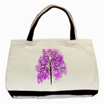 Purple Tree Basic Tote Bag (Two Sides) Back