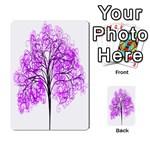 Purple Tree Multi-purpose Cards (Rectangle)  Back 34