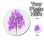 Purple Tree Multi-purpose Cards (Round)  Back 1