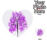 Purple Tree Multi-purpose Cards (Heart)  Back 14