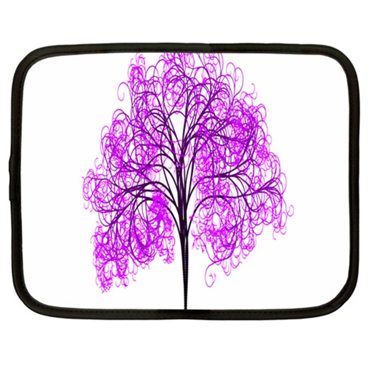 Purple Tree Netbook Case (Large)