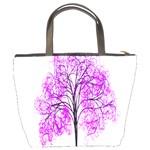 Purple Tree Bucket Bags Back
