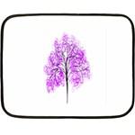 Purple Tree Double Sided Fleece Blanket (Mini)  35 x27 Blanket Front