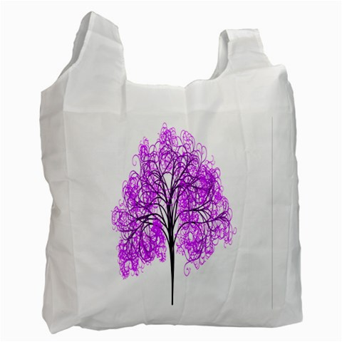 Purple Tree Recycle Bag (One Side)