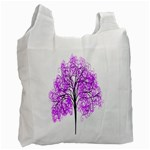 Purple Tree Recycle Bag (One Side) Front