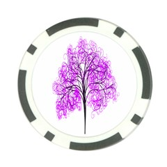 Purple Tree Poker Chip Card Guards (10 pack)