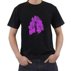 Purple Tree Men s T-Shirt (Black)