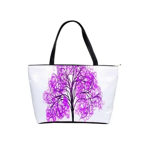 Purple Tree Shoulder Handbags
