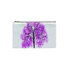 Purple Tree Cosmetic Bag (Small)